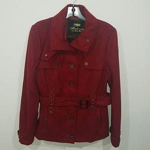 Akademiks Red Studded Jacket Coat Large